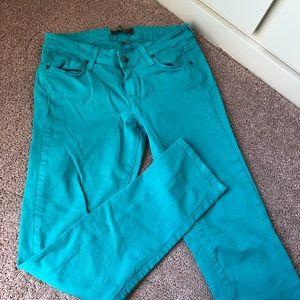 Paige skinny jeans size 25 mint green EUC